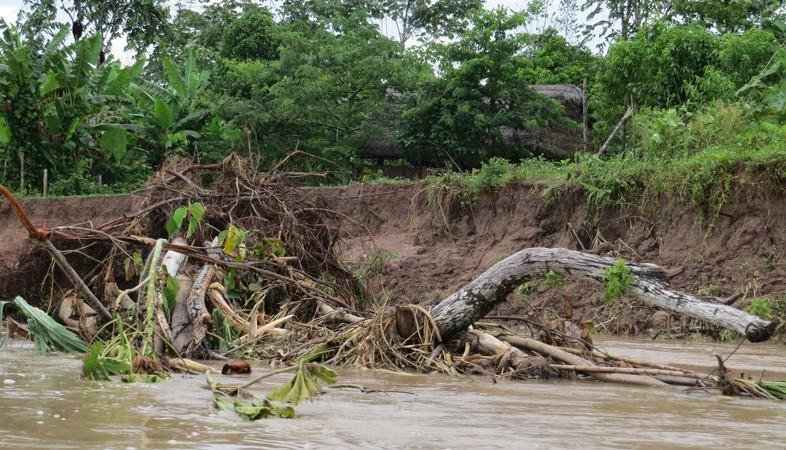 Aluvión destruye cultivos y propiedades de comunidades indígenas en Loreto